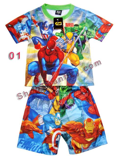 Áo quần Cartoon bé trai -  Ben 10 và Movie Hero  (Size S - M)