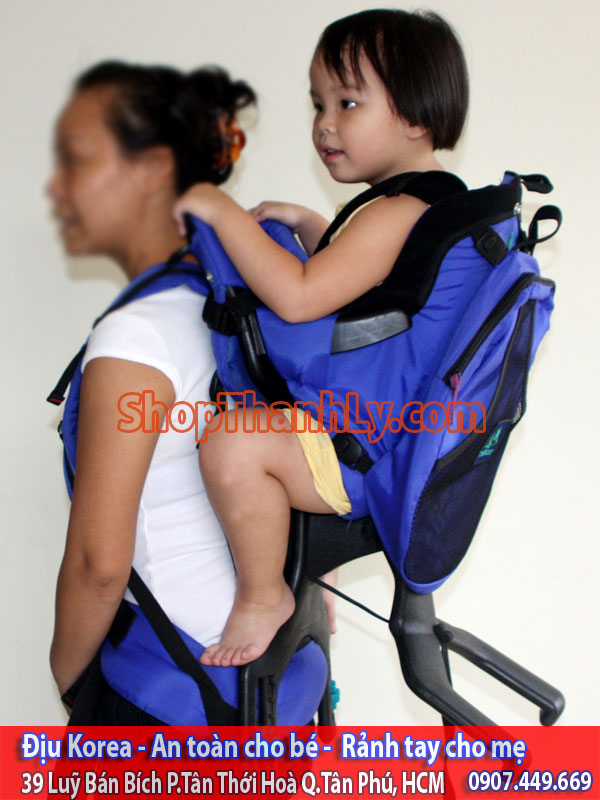 682 - Evenflo Trailtech Baby Carrier, Blue